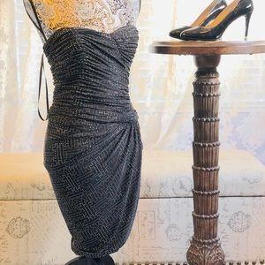 Calvin Klein Strapless Ruched Sheath Dress